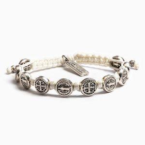 Silver Benedictine Blessing Bracelet